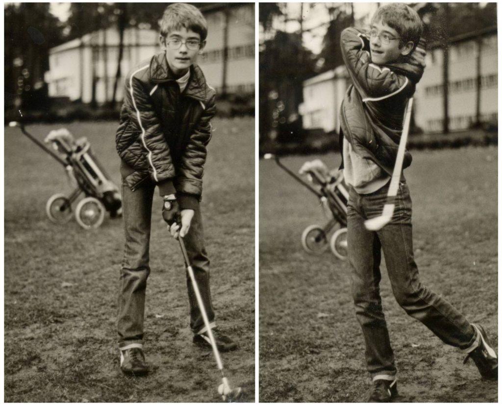 Beim Golf-Training mit 13 Jahren