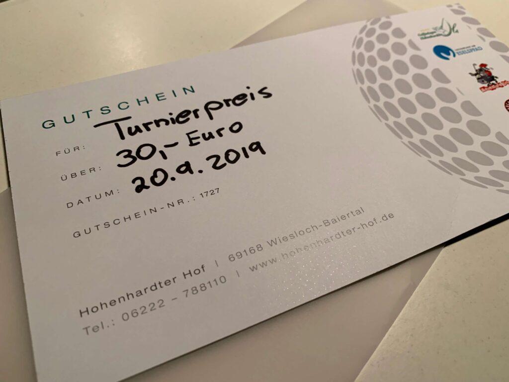 Turnierpreis Elektromüller Jubiläumsturnier